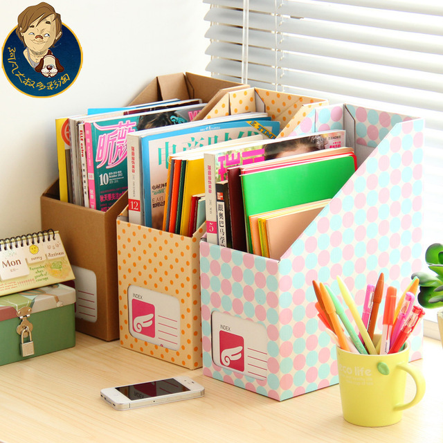 15 Articles To Help Organize Your Home For The New Year: Free Shipping Paper Desktop Storage Box Large Office