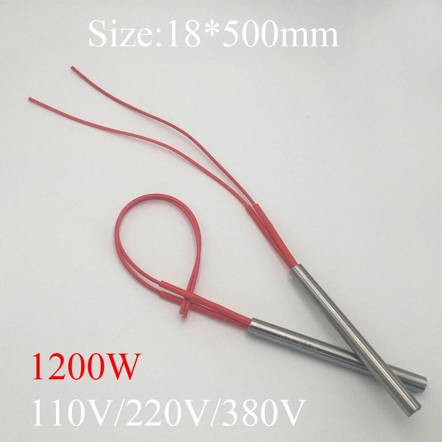 18x500 18*500 1200 W AC 110 V 220 V 380 V acier inoxydable cylindre Tube moule élément chauffant cartouche à extrémité unique