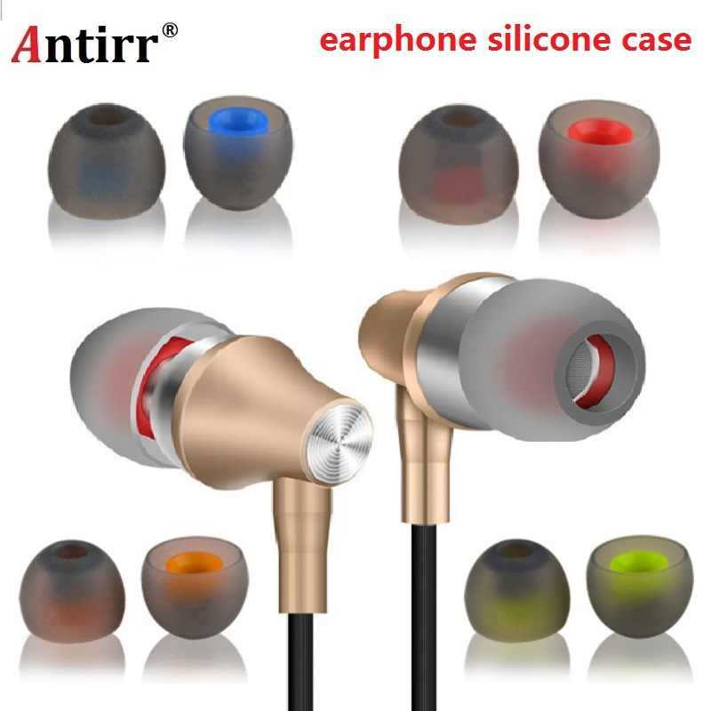 2pcs/1pair 3.8mm soft Silicone In-Ear Earphone covers Earbud Tips Earbuds eartips Dual color Ear pads cushion for headphones