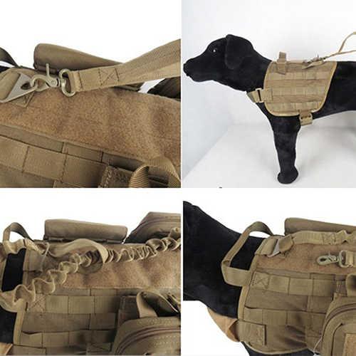 Быстросъемный сверхмощный военный поводок для собак Тактический трос поводок