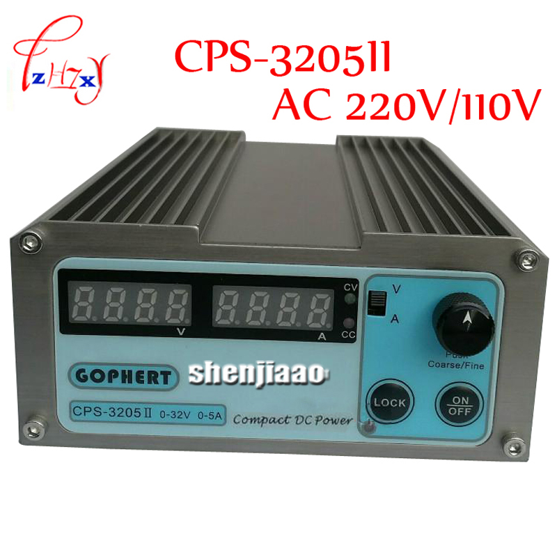 CPS-3205II Compact Mini Variable Adjustable Power Supply DC 0-32V 0-5A AC110-240V free ship small volume cps 6011 60v 11a high efficiency adjustable dc power supply stabilized voltage supply
