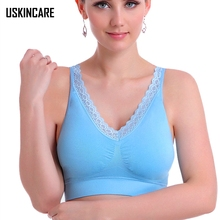 Seamless Women Sports Bra Lace Push Up Adjusted-straps Breathable Sport Crop Tops Gym Running Bra For Female sujetador deportivo