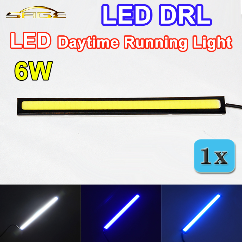 flytop 1 PIECE 6W LED DRL Daytime Running Light Waterproof COB 17CM Auto Lamp Universal for all Car Models 2pcs set new design drl led daytime running lamp auto cob light 100% waterproof car accessories free shipping