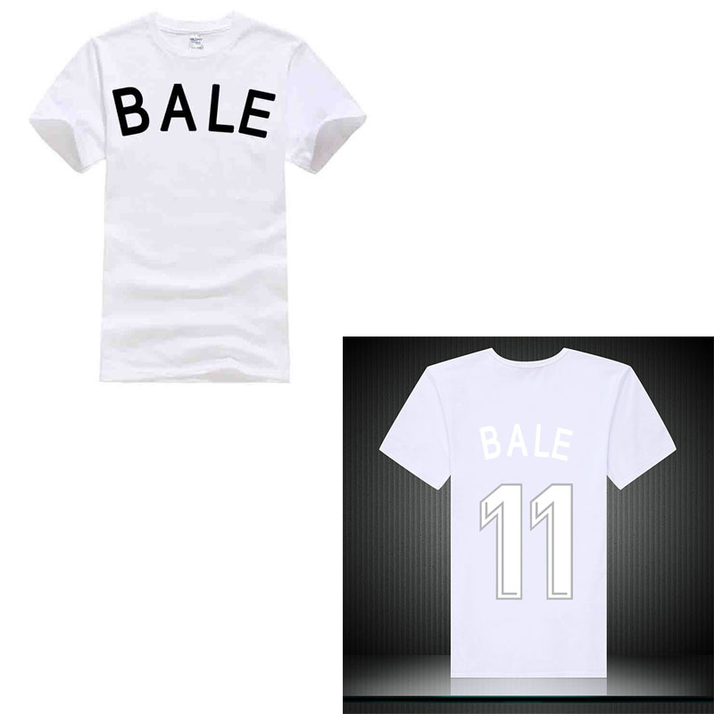 100% Cotton Print Mens Summer O-Neck 2018 bale NO.11 madrid fooballer player hero man and golden boot