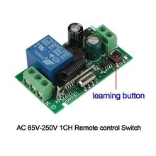 Smart Home 433MHz 220V 1 Channel Wireless Remote Control Switch DIY Receiver Module Support 433MHz RF Frequency Transmitter