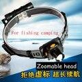 2016 новый лучшее качество светодиодный масштабируемые Q5 Зондирования фары 18650 аккумуляторная фонарик для рыбалки отдых на природе