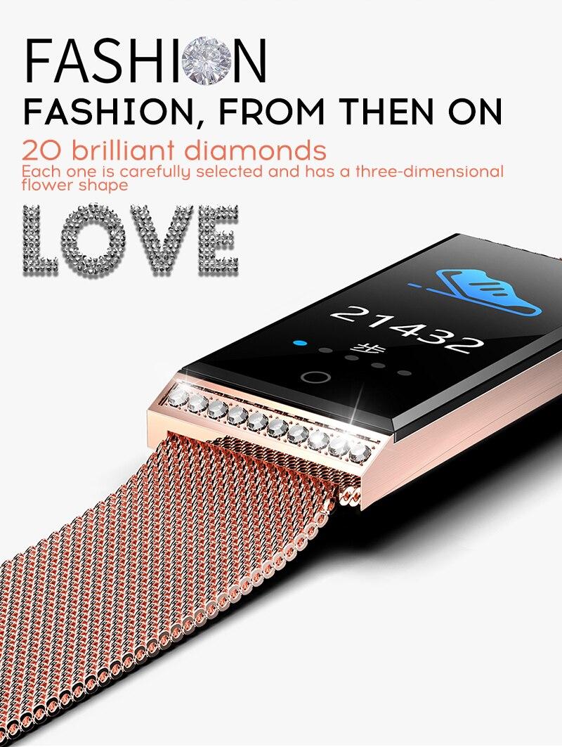 MAFAM Smart Bracelet Women Watch Waterproof Fitness Tracker Heart Rate Blood Pressure Sports Smart Band Notification Reminder (6)