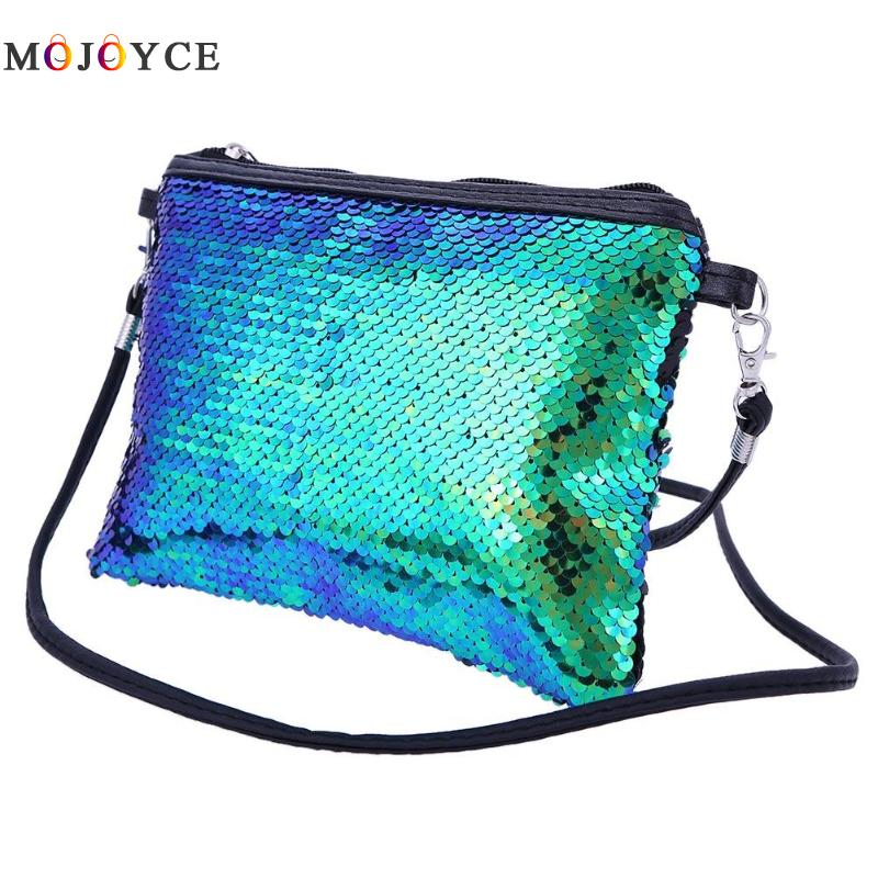 Portable Shining Sequins Women Messenger Bags Party Gorgeous Clutch Handbag Lady Shoulder Bag Bolsa Feminina цена
