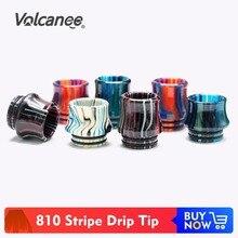 Volcanee 810 капельный наконечник смоляный мундштук для V8 Big Baby V12 Prince Sticke V8 аксессуары для электронной сигареты капельный наконечник 810