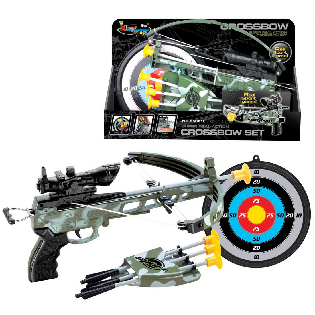 Children Bow Crossbow Outdoor Sport Toys Set Learning Educational Toys For Children- Simulation Camouflage уличный настенный светильник odeon light house 4039 1w