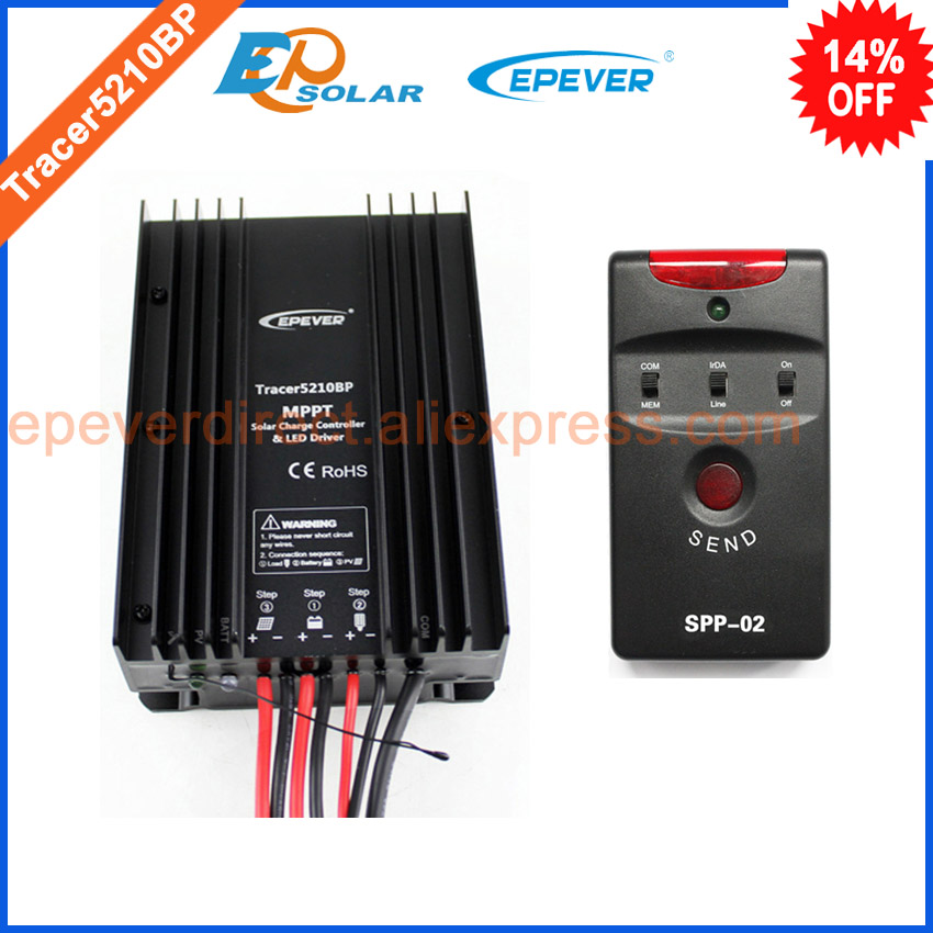 solar mppt regulator of EPEVER brand Tracer5210BP+SPP-02 20A 20amp for 24v 520w solar panel system use in home wireless restaurant calling system 5pcs of waiter wrist watch pager w 20pcs of table buzzer for service
