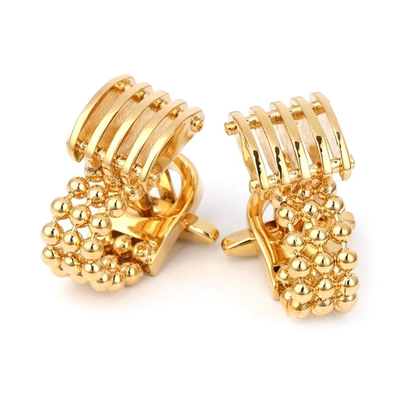 Men's Wedding Gold Wrap Around Chain Cufflinks Suit Shirt Dress Cuff Links Gift