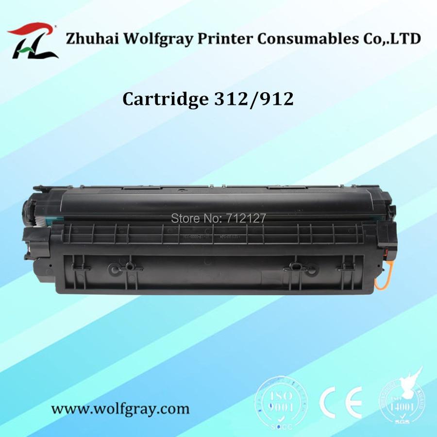 Compatible para Canon 312 912 CRG312 CRG912 CRG-312 CRG-912 cartucho de tóner LBP3010 LBP 3010 3018 3050 3108 3150