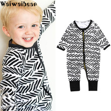 Waiwaibear Baby Boys Girls Rompers Infants Casual Long-sleeved  Jumpsuit Cotton Kids Clothes SK60