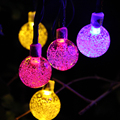 LED String Lights With LED Solar 6M High Bright Outdoor Lighting Waterproof Fairy Lights For Christmas Party Decoration