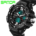 SANDA Fashion Watch Men Waterproof LED Sports Military Watches Men's Analog Quartz Digital Watch relogio masculino montre homme