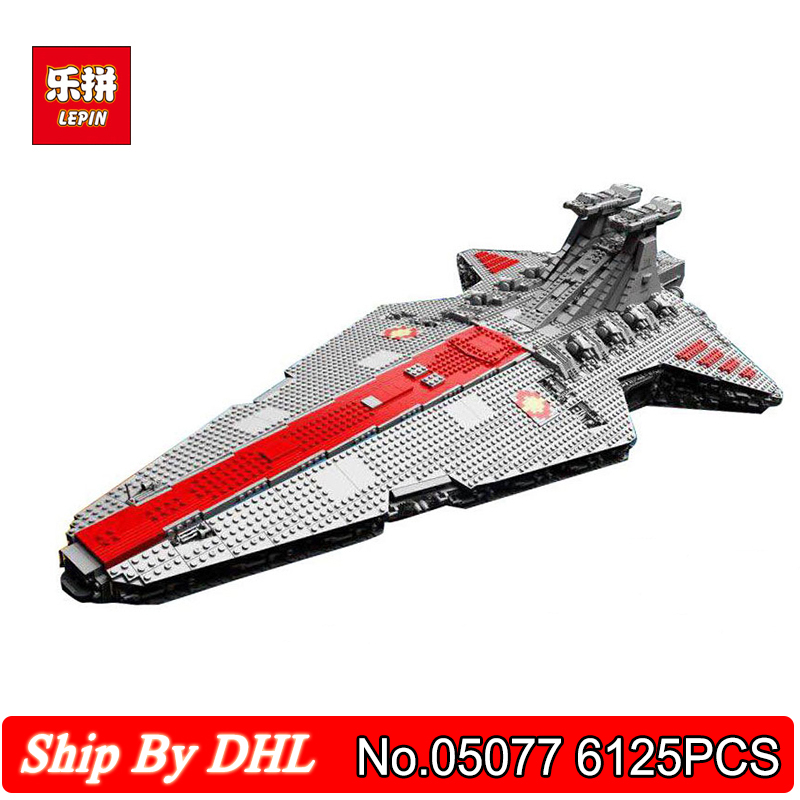 DHL Shipping Lepin 05077 Star Classic Model Wars The Ucs ST04 Republic Cruiser 6125PCS Blocks Bricks Toy Compatible Legoingly lepin 05077 stars series war the ucs rupblic set star destroyer model cruiser st04 diy building kits blocks bricks children toys