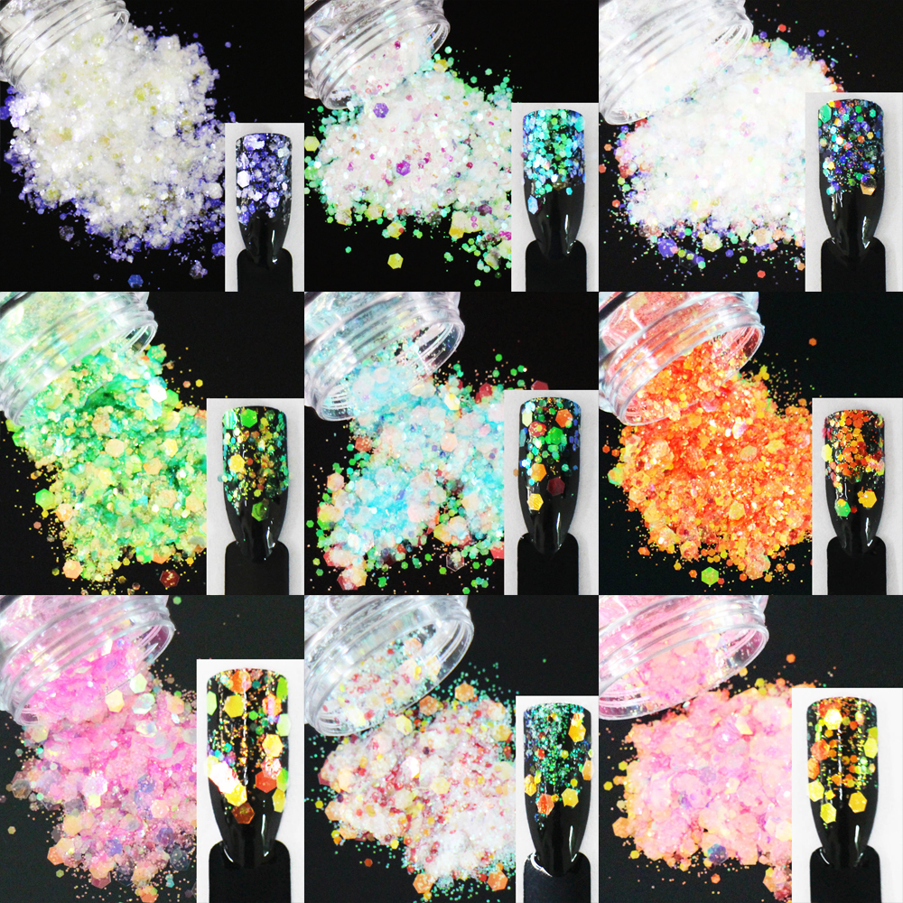 24 Entscheidungen Treu 10 Gr/paket Mix Sechsecke Formen Pailletten Schillernden Regenbogen Glänzende Farben Scheibe 3d Nail Art Glitter Pailletten Geeignet FüR MäNner Und Frauen Aller Altersgruppen In Allen Jahreszeiten