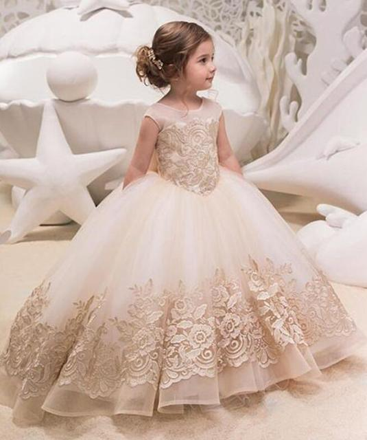 Lace Flower Girl Dress For Wedding Sleeveles Princess Kids Dresses ...