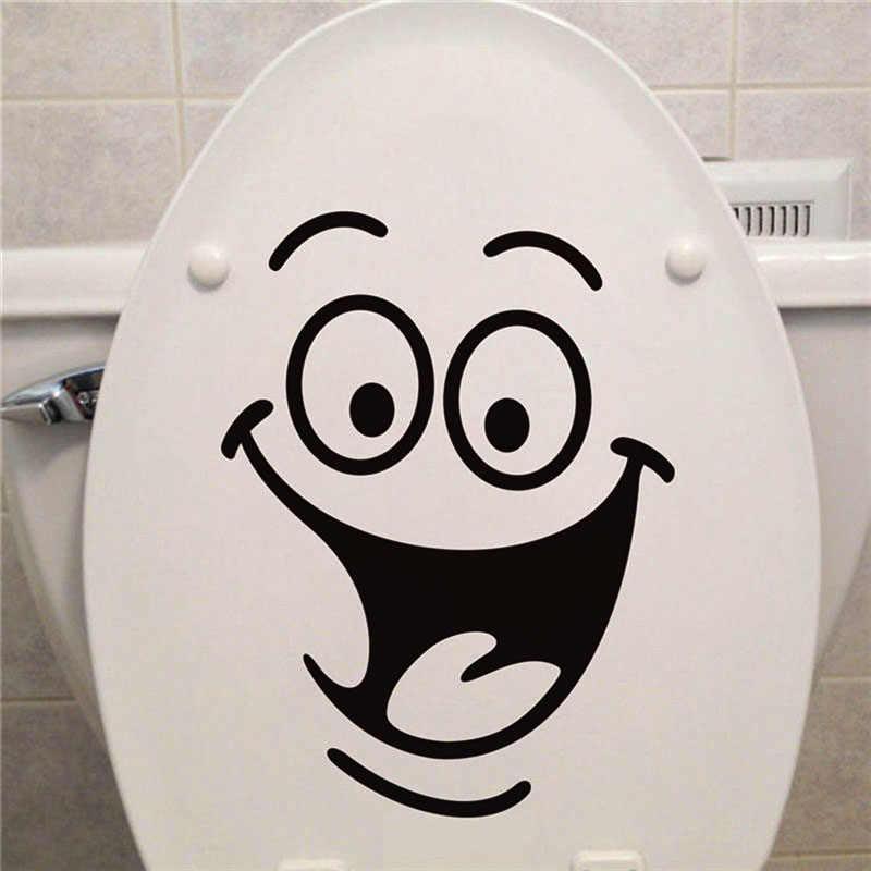 ¡Oferta! pegatinas de pared para decoración del hogar, asiento de baño, cocina y baño extraíbles con sonrisa divertida