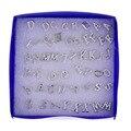 Оптовые Много 26 Pairs Stude Серьги Письмо Формы Посеребренные Пластиковые Серьги для Женщин Девушки Оптовая Продажа Ювелирных Изделий