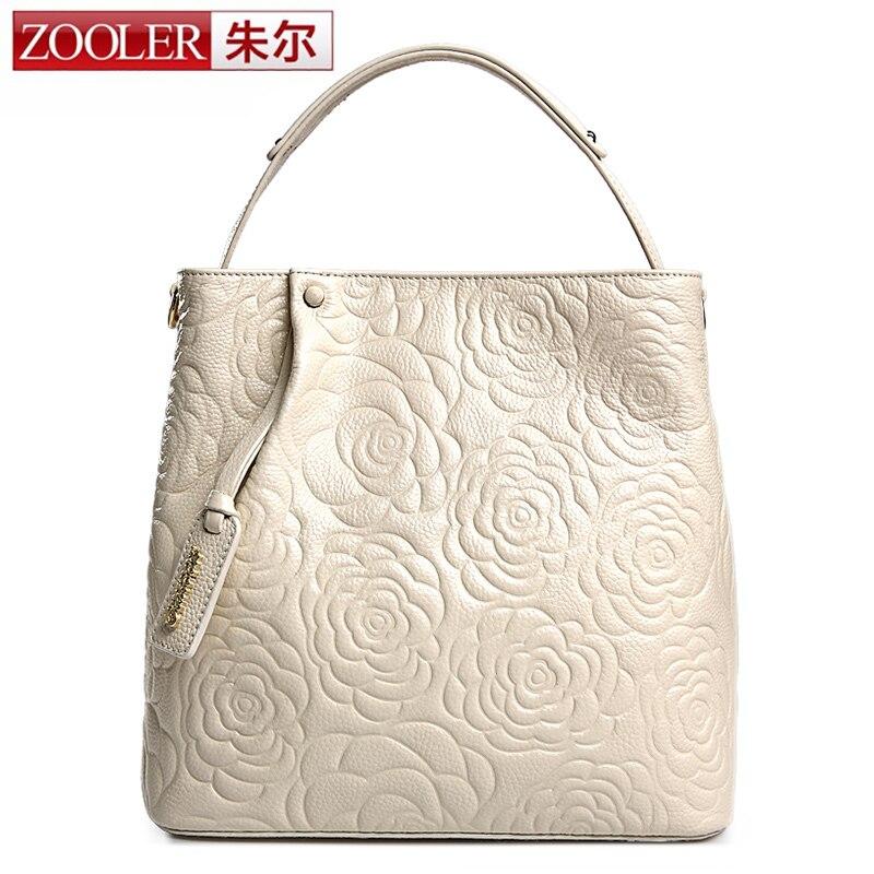 ФОТО New&Hot Zooler Brand bags handbags women famous brands women leather handbags 2016 fashion Elegentl floral grain bag bolsas#6088