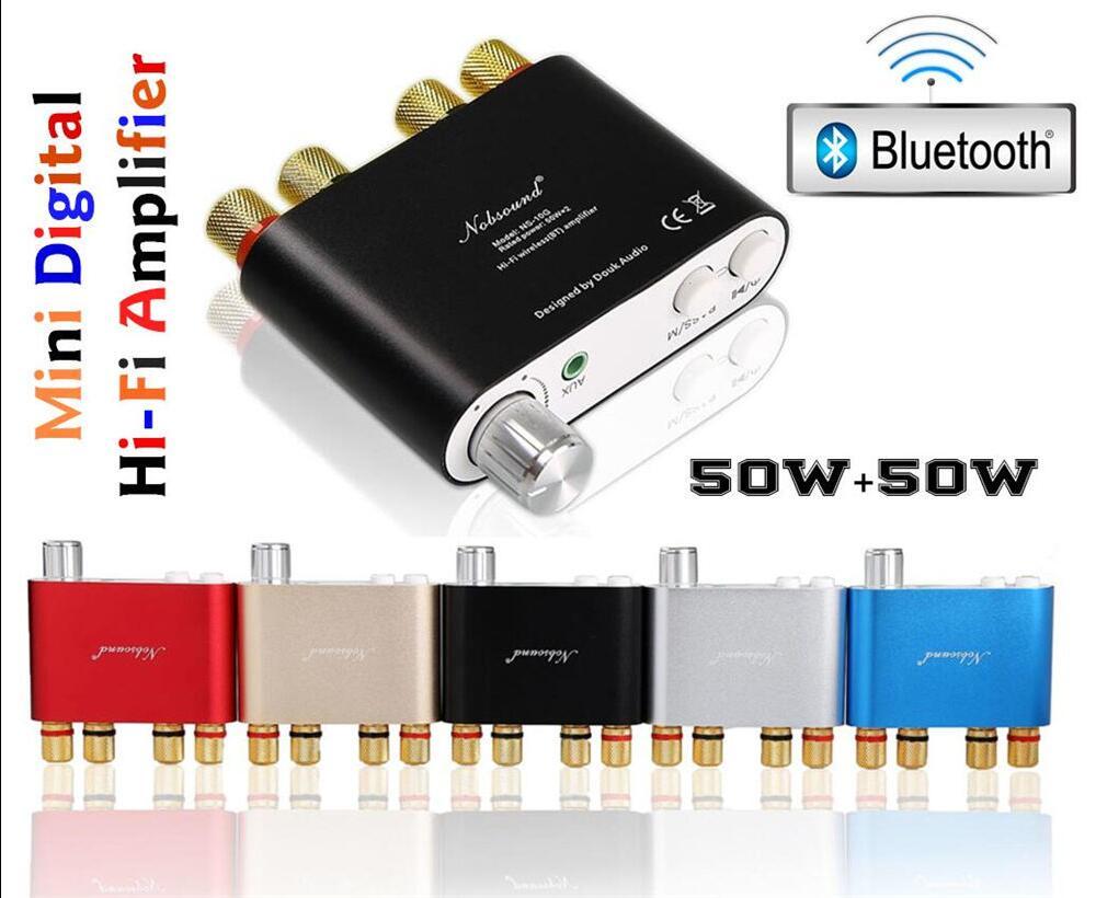Nobsound NS-10G Mini TPA3116 Bluetooth 4.0 Digital Power Amplifier Stereo HiFi Amp Home Audio 50W*2 Free Shipping цена
