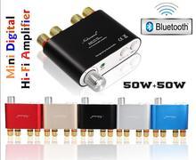 2016 Nueva Nobsound NS-10G Mini TPA3116 HiFi Bluetooth 4.0 Estéreo de Amplificador de Potencia Digital Amplificador de Audio Para El Hogar 50 W * 2 envío Gratis