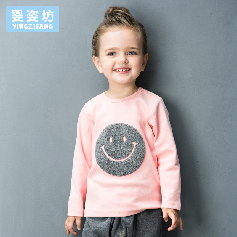 2017-New-Hot-Sale-Full-O-neck-Character-Regular-Yingzifang-Unisex-Casual-Sleeves-Cotton-Smile-Face-Tees-Kids-T-shirts-2