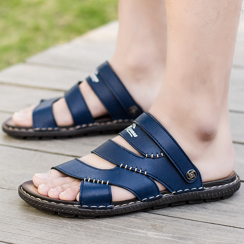 Mens Sports Water Shoes Outdoor Beach Sandals Hole Casual Slip On Cut Out Sandal