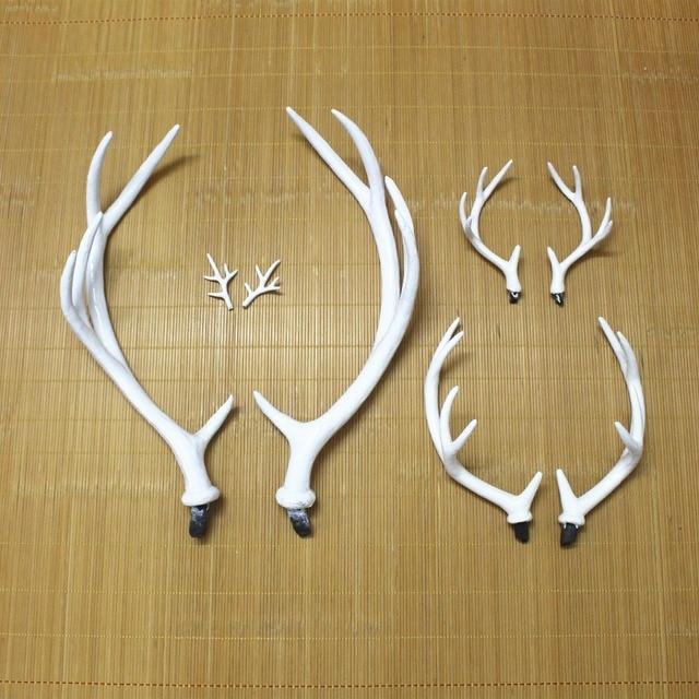Handmade White Simulation Plastic Deer Antlers DIY Cosplay Animals Horn Headband Deer Antlers Simulation Artificial Antlers Gift