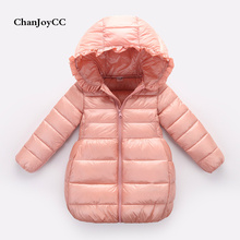 Brand ChanJoyCC  Autumn Winter High Quality Children's Coat Kid Girls Long Sleeve Fashion Solid Hooded  Woolen Outerwear Coat