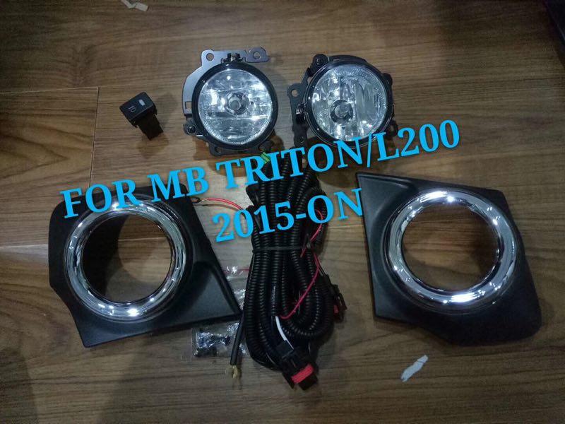 eOsuns halogen fog lamp front bumper light +fog lamp cover for Mitsubishi triton /L200 2015-ON цены онлайн