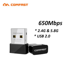 650Mbps Mini CF-811AC Wireless USB Wifi Adapter Lan USB2.0 Ethernet 2.4G&5.8G Wi-fi Network Card 802.11a/n/g/b/ac AC Receiver