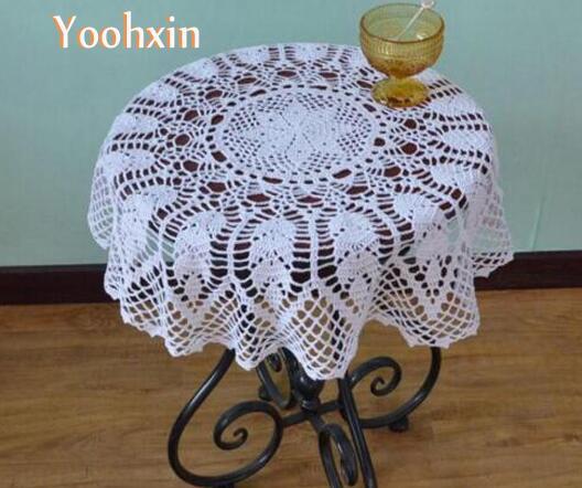 acheter moderne diy crochet blanc table tissu serviette couverture nappe. Black Bedroom Furniture Sets. Home Design Ideas