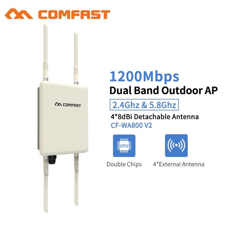 Открытый Wi Fi ретранслятор 1200 Мбит/с Беспроводной Wi Fi диапазон усилительная подстанция 5 г Водонепроницаемый 27dBm 802,11 ac Wi Fi маршрутизатор WISP ба