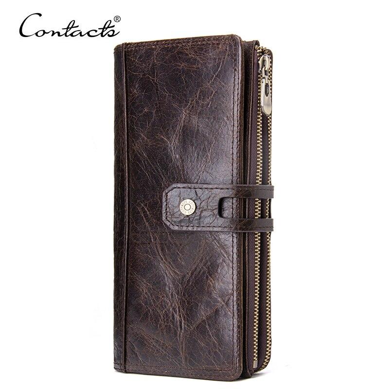 16e83ff5bb9b Контакта 2018 роскошный мужской пояса из натуральной кожи кошелек для  мужчин сцепления женские кошельки с карман