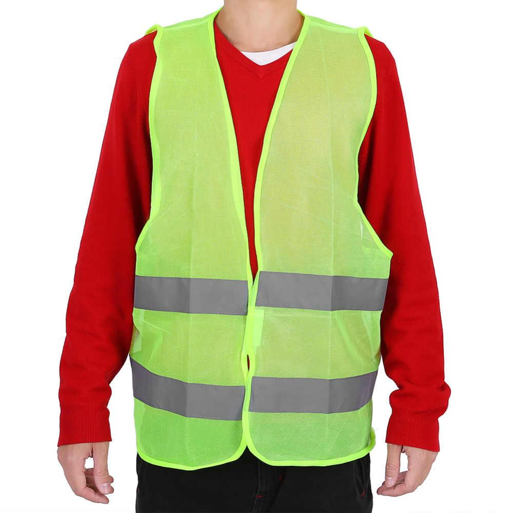 Neue Plus Größe 60g Reflektierende Weste Arbeits Kleidung Bietet Hohe Sichtbarkeit Tag Nacht Für Lauf Radfahren Warnung Sicherheit Weste