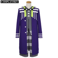 Tokyo Ghoul Jail Bettle Cosplay Costume Blue Long Trench Grey Vest and Pants Full Set Halloween Outfit