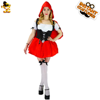 DSPLAY Cosplay Little Red Riding Hood High Quality Cartoon Costume For Adult Halloween Party Fairy Tales Original Design Outfits