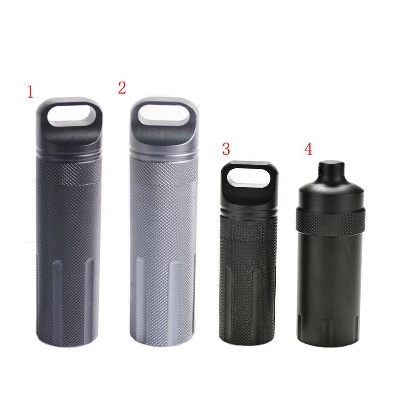 Outdoor Super Strong CNC Waterproof Emergency First Aid Survival Pill Bottle Camping EDC Tank Box for