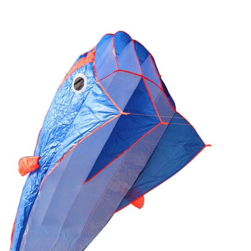 2017 New Outdoor Equipment Sports Quality Whale Outdoor Nylon Figures Surfing Soft Blue Water Kite High