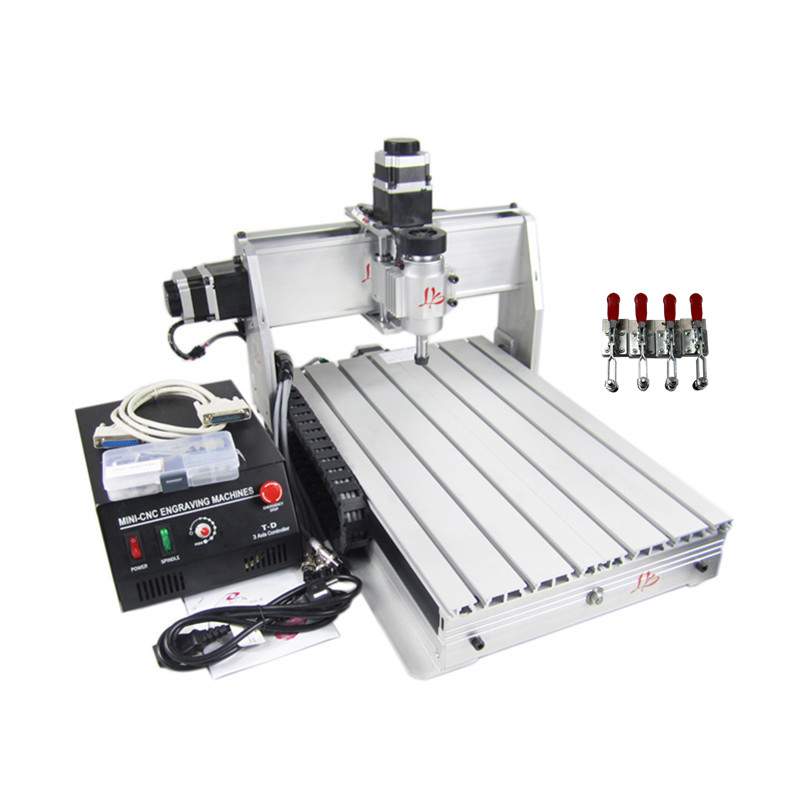 CNC milling lathe CNC router 3040 Z-DQ 3axis drilling machine for wood pcb aluminum carving цена