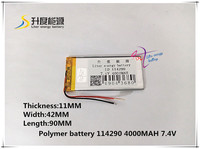 7 4V 4000mAH 114290 Polymer Lithium Ion Li Ion Battery For Tablet Pc GPS Mp3 Mp4