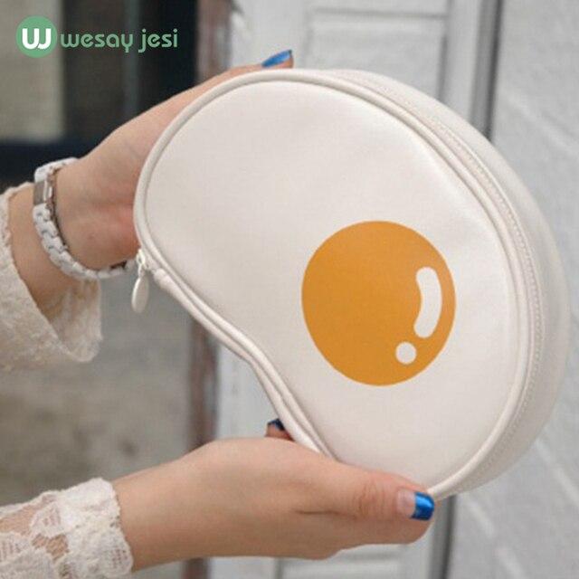 Makeup bag New Korean Cartoon eggs travel clothing organizer Cosmetic Bag Makeup pouch Case Zipper Cheap Clean Women Bags