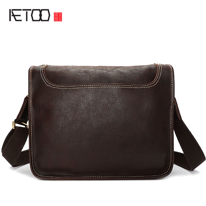 AETOO First layer of leather shoulder bag retro Messenger bag personality trend male ointment leather men wave sumifun 100% original 19 4g red white tiger balm ointment thailand painkiller ointment muscle pain relief ointment soothe itch