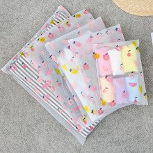 Travel Transparent Clothes Storage Bags Vacuum Bags For Shoes Makeup Underwear Zipper Lock Self Seal Portable Organizer Pouch