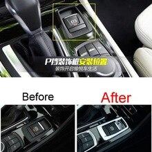 1 PCS Car Styling DIY NEW ABS Chrome Electronic Handbrake P Block Light Cover Case Stickers