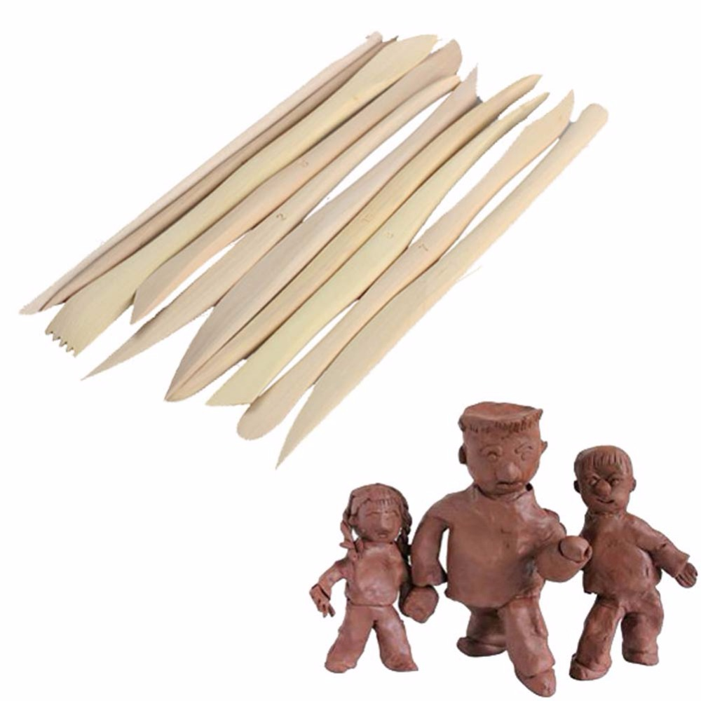 How to make clay toys use various shaping tools to - 10pcs Wooden Diy Ceramic Tool Clay Sculpture Knife Pottery Sharpen Modeling Tools Set 10pcs Micromelia Cl
