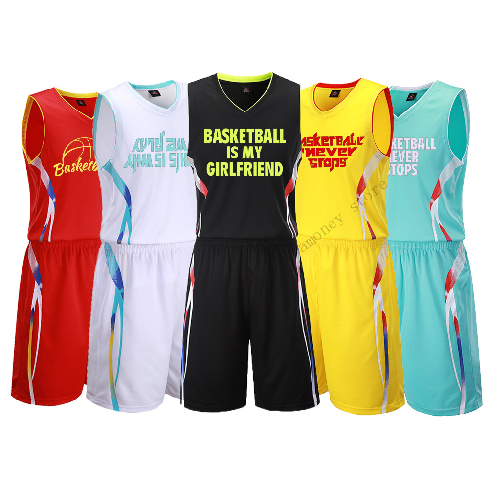 Adsmoney Men Women Basketball Jersey Sets Uniforms Breathable cheap throwback men sweat suit basketball Shorts Custom DIY blouse ...
